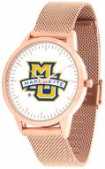 Marquette Golden Eagles Rose Mesh Statement Watch