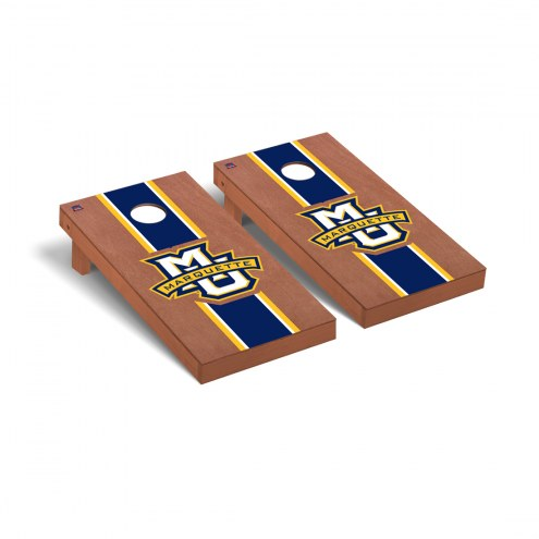 Marquette Golden Eagles Rosewood Stained Cornhole Game Set