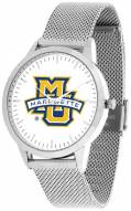 Marquette Golden Eagles Silver Mesh Statement Watch