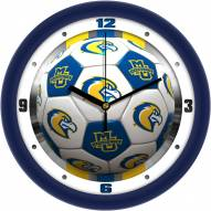 Marquette Golden Eagles Soccer Wall Clock