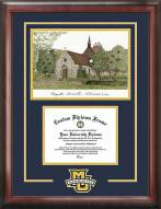 Marquette Golden Eagles Spirit Diploma Frame with Campus Image