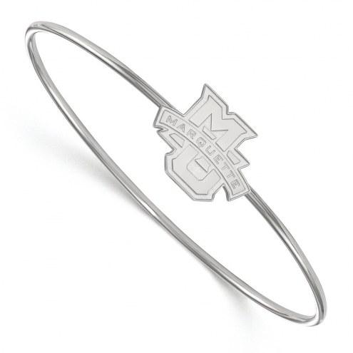 Marquette Golden Eagles Sterling Silver Bangle Slip on Bracelet