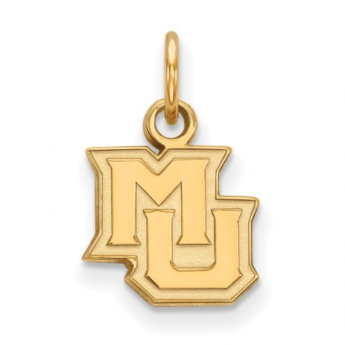 Marquette Golden Eagles Sterling Silver Gold Plated Extra Small Pendant