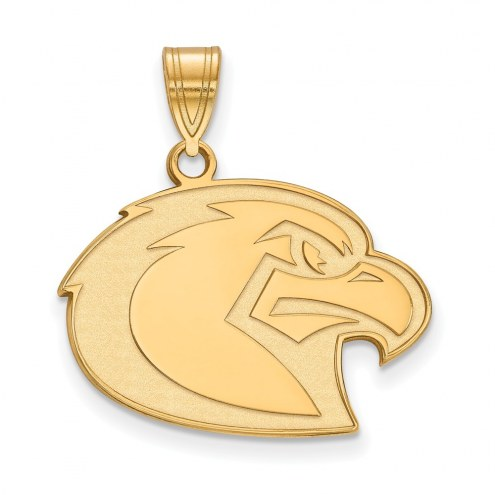 Marquette Golden Eagles Sterling Silver Gold Plated Large Pendant