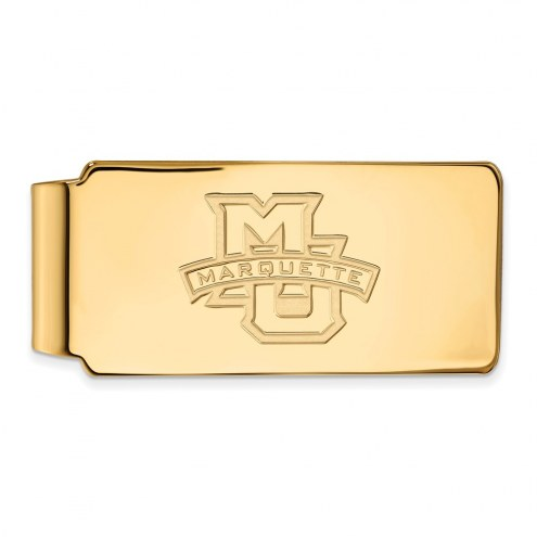 Marquette Golden Eagles Sterling Silver Gold Plated Money Clip