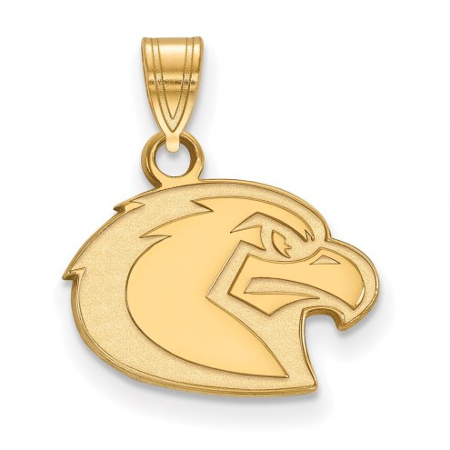 Marquette Golden Eagles Sterling Silver Gold Plated Small Pendant