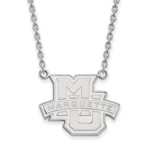 Marquette Golden Eagles Sterling Silver Large Pendant Necklace