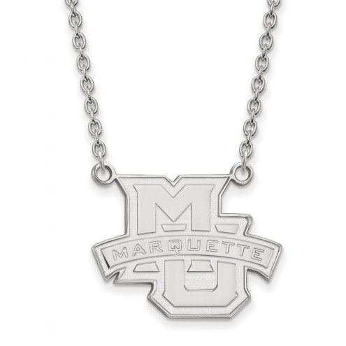 Marquette Golden Eagles Sterling Silver Large Pendant Necklace