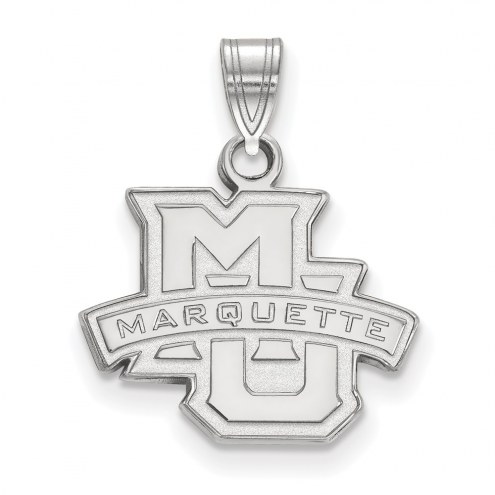 Marquette Golden Eagles Sterling Silver Small Pendant