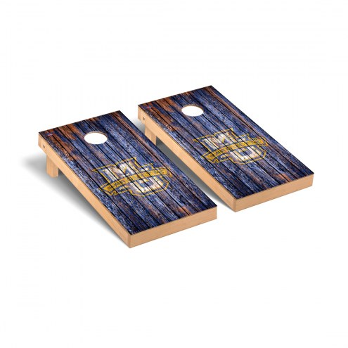 Marquette Golden Eagles Weathered Cornhole Game Set