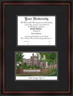 Marshall University Diplomate Framed Lithograph with Diploma Opening