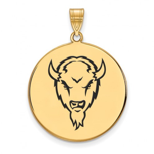 Marshall Thundering Herd Sterling Silver Gold Plated Extra Large Enameled Disc Pendant