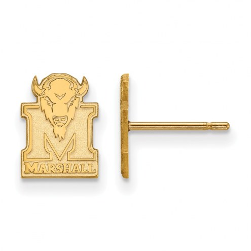 Marshall Thundering Herd NCAA Sterling Silver Gold Plated Extra Small Post Earrings