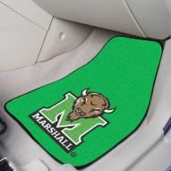 Marshall Thundering Herd 2-Piece Carpet Car Mats