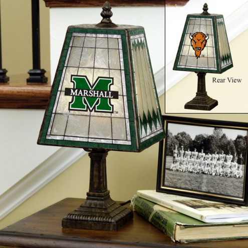 Marshall Thundering Herd Art Glass Table Lamp