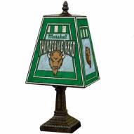 Marshall Thundering Herd Art Glass Table Lamp