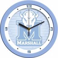 Marshall Thundering Herd Baby Blue Wall Clock