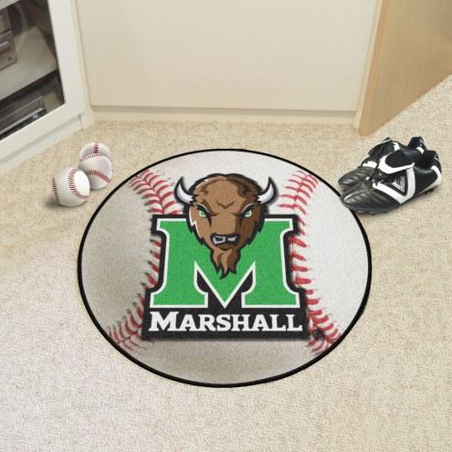 Marshall Thundering Herd Baseball Rug