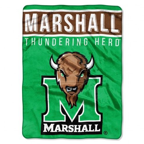 Marshall Thundering Herd Basic Plush Raschel Blanket
