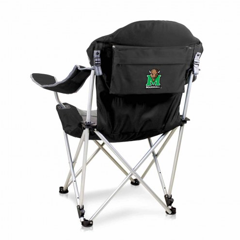 Marshall Thundering Herd Black Reclining Camp Chair