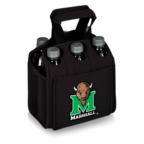 Marshall Thundering Herd Black Six Pack Cooler Tote