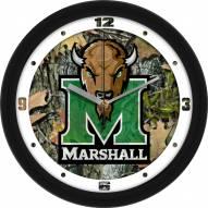Marshall Thundering Herd Camo Wall Clock