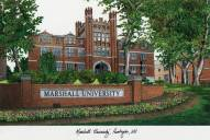 Marshall Thundering Herd Campus Images Lithograph