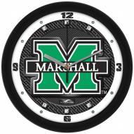 Marshall Thundering Herd Carbon Fiber Wall Clock