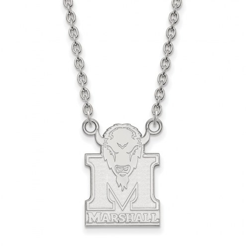 Marshall Thundering Herd Sterling Silver Large Pendant Necklace