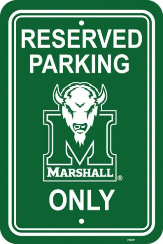 Marshall Thundering Herd College Parking Sign