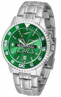 Marshall Thundering Herd Competitor Steel AnoChrome Color Bezel Men's Watch
