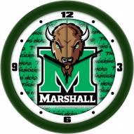 Marshall Thundering Herd Dimension Wall Clock