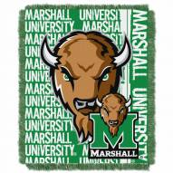 Marshall Thundering Herd Double Play Woven Throw Blanket