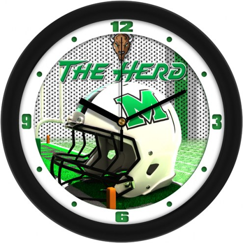 Marshall Thundering Herd Football Helmet Wall Clock