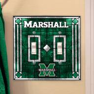 Marshall Thundering Herd Glass Double Switch Plate Cover