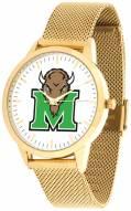 Marshall Thundering Herd Gold Mesh Statement Watch