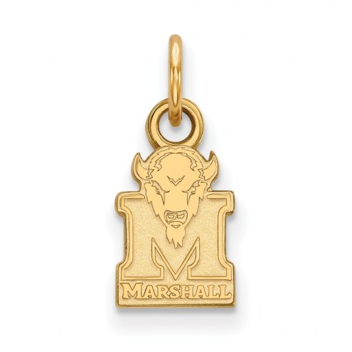 Marshall Thundering Herd Sterling Silver Gold Plated Extra Small Pendant