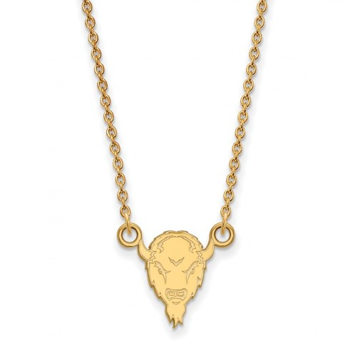Marshall Thundering Herd Sterling Silver Gold Plated Small Pendant Necklace