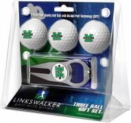 Marshall Thundering Herd Golf Ball Gift Pack with Hat Trick Divot Tool