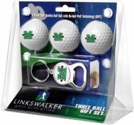 Marshall Thundering Herd Golf Ball Gift Pack with Key Chain