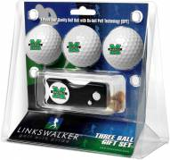 Marshall Thundering Herd Golf Ball Gift Pack with Spring Action Divot Tool