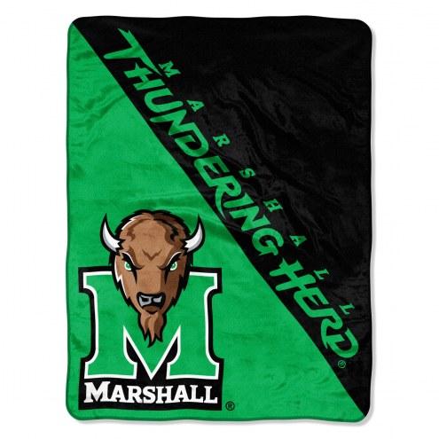 Marshall Thundering Herd Halftone Raschel Blanket