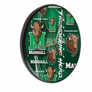 Marshall Thundering Herd Digitally Printed Wood Clock