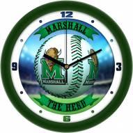 Marshall Thundering Herd Home Run Wall Clock