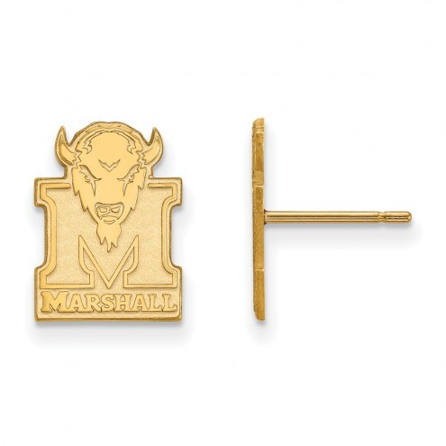 Marshall Thundering Herd NCAA Sterling Silver Gold Plated Small Post Earrings