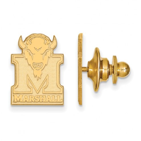 Marshall Thundering Herd NCAA Sterling Silver Gold Plated Lapel Pin