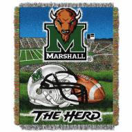 Marshall Thundering Herd NCAA Woven Tapestry Throw Blanket