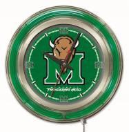 Marshall Thundering Herd Neon Clock