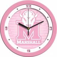 Marshall Thundering Herd Pink Wall Clock