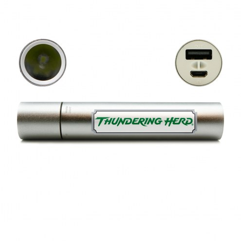 Marshall Thundering Herd Portable Power Charger with Flashlight